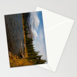 Mountain Lake in Autumn Stationery Cards
