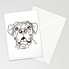 The Boxer Dog Love of my Life Stationery Cards