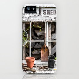 Potting Shed At Work iPhone Case