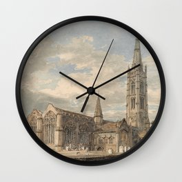 Joseph Mallord William Turner - North East View of Grantham Church, Lincolnshire - 1797 Wall Clock