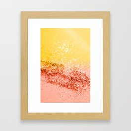 Tropical Summer Lady Glitter #2 #shiny #decor #art #society6 Framed Art Print