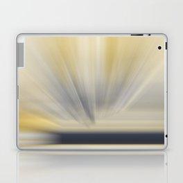 Charcoal Grey Yellow Abstract Laptop & iPad Skin