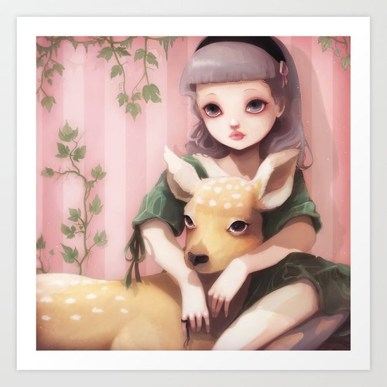 My dear lady deer... Art Print