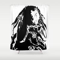 predator Shower Curtains featuring Marked predator by Ispas Sorin