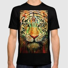 Tiger Mens Fitted Tee Black SMALL