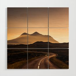 Sunset Mountain Road Wood Wall Art