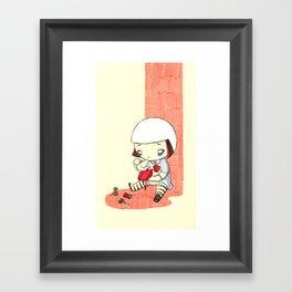 Sewing Heart Framed Art Print