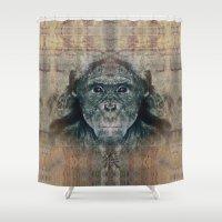 monkey Shower Curtains featuring Monkey by Zandonai