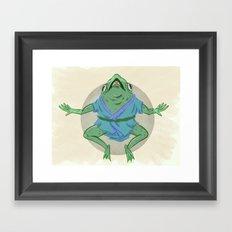 Aogaeru Framed Art Print