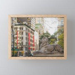 New York Public Library Framed Mini Art Print