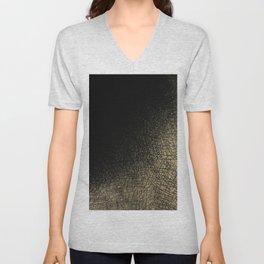 Modern abstract black gold watercolor brushstrokes Unisex V-Neck