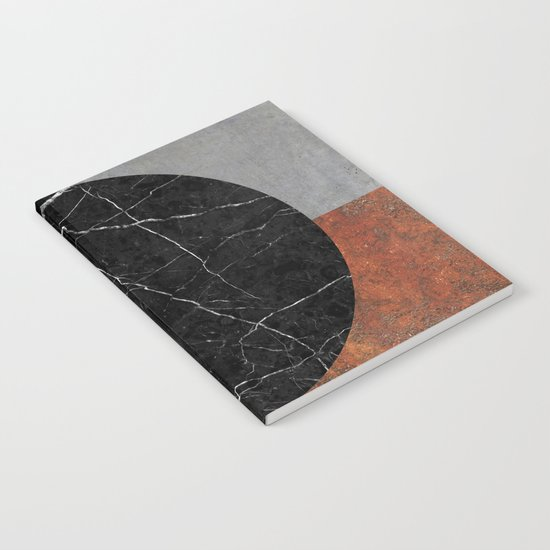 Abstract - Marble, Concrete, Rusted Iron Notebook