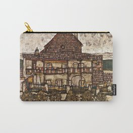 Egon Schiele - House With Shingle Roof Carry-All Pouch