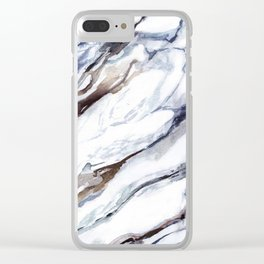 Marble print 1 Clear iPhone Case