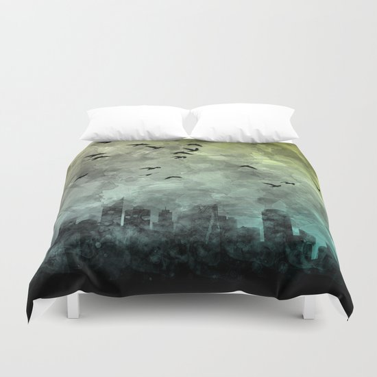 blue city Duvet Cover