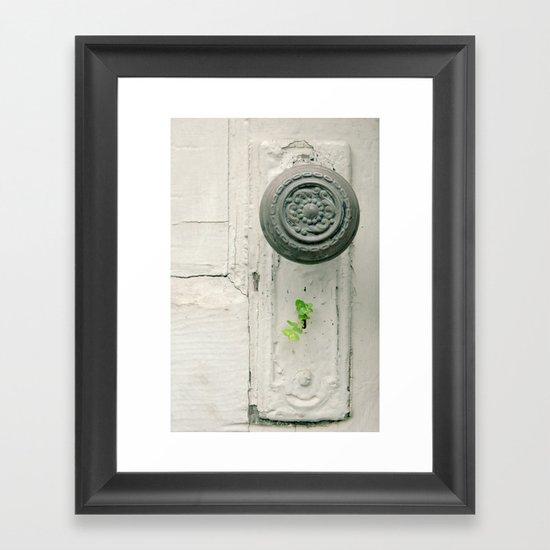 Lock & Key Framed Art Print