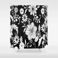 floral pattern Shower Curtains featuring Floral pattern by Laake-Photos