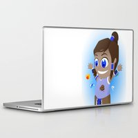 the legend of korra Laptop & iPad Skins featuring The Legend of Chibi Korra by Art of Sara