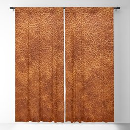 Brown vintage faux leather background Blackout Curtain