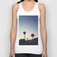 san diego Tank Tops featuring Old Town, San Diego by George Elder