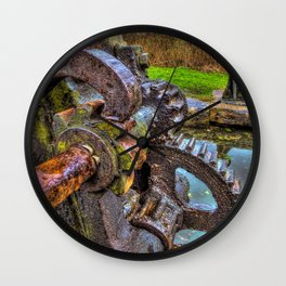 Winding Gear Wall Clock