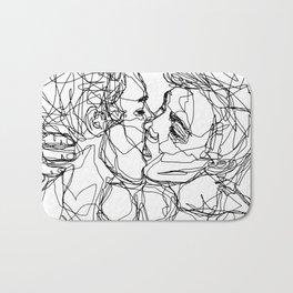 Boys kiss too Bath Mat