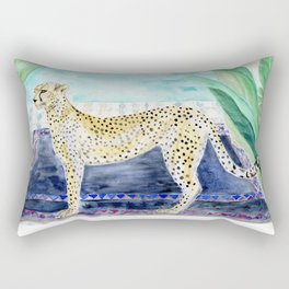 Cheetah Cat in Morocco Rectangular Pillow