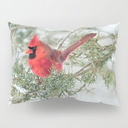 Cocky Cardinal Pillow Sham