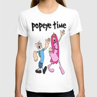 popeye T-shirts featuring popeye time by Chiaris