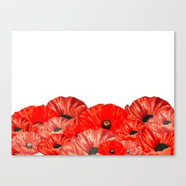 Poppies on White Canvas Print