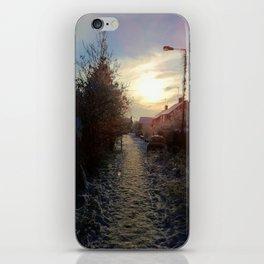 Snow path dusk iPhone Skin