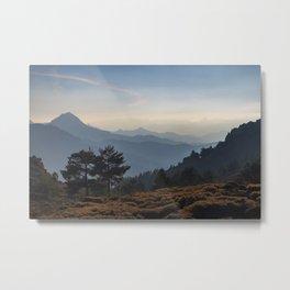 Blue dreams III. Misty mountains Metal Print