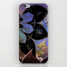 Love flower pattern iPhone Skin