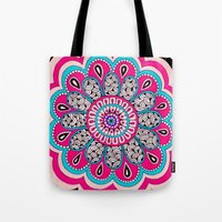 mod Tote Bags featuring Mod Flower by PeriwinklePeacoat