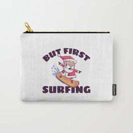Surfing Santa Claus Carry-All Pouch