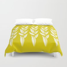 Growing Leaves: Golden Yellow  Duvet Cover