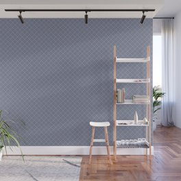 Earthy Green on Mellow Purple Parable to 2020 Color of the Year Back to Nature Angled Grid Pattern Wall Mural