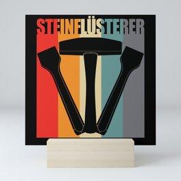 Stonemason Retro Vintage Tool Graphic Mini Art Print