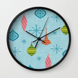 Mid Century Modern Christmas Ornaments Wall Clock