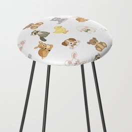 Cute Woodland Farm Baby Animals Nursery Counter Stool