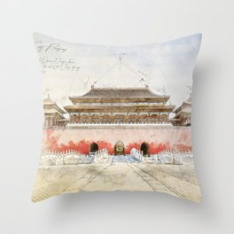 The forbidden City, Beijing Throw Pillow