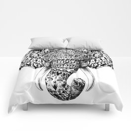 Ornate Elephant Head Comforters