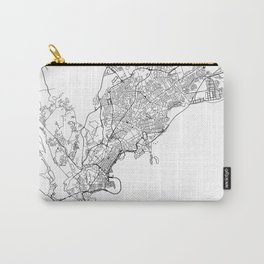 Panama City Map Panama White and Black Carry-All Pouch