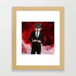 WOLF of WALLSTREET Framed Art Print