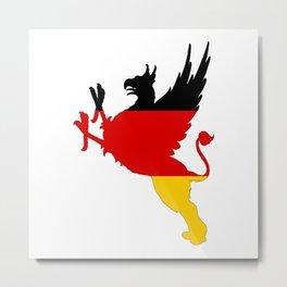 German Flag - Griffin Metal Print