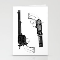 guns Stationery Cards featuring Two Guns by Broenner