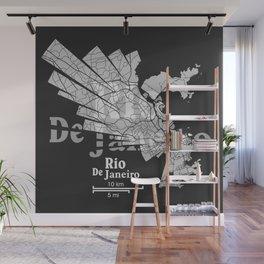 Rio De Janeiro Map Wall Mural