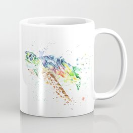 Sea Turtle Colorful Watercolor Painting Coffee Mug