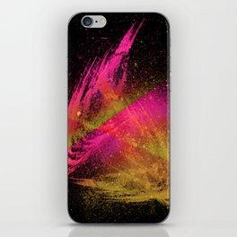 Vivid Spray Hot Pink Amber iPhone Skin