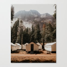 campsite at yosemite Canvas Print